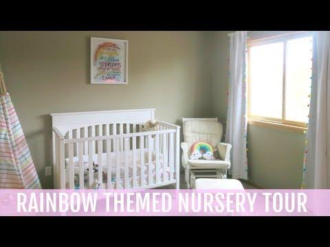Rainbow Themed Nursery Tour | Isabelle's Room Tour