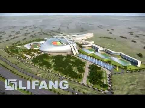 3D Architectural Visualization of a New Sports Stadium in Baghdad, Iraq