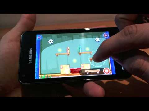 Samsung Galaxy S Advance display and gaming review