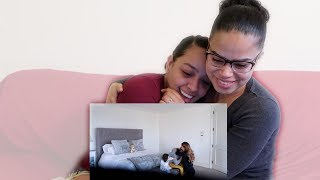Mommy And Daughter Surprise Daddy With Pregnancy Announcement Speechless Reaction Audio