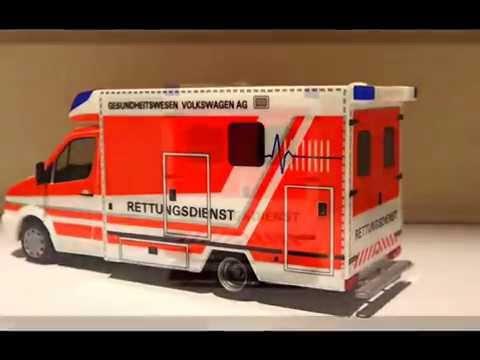 Herpa Rettungsdienst Volkswagen AG Ambulance