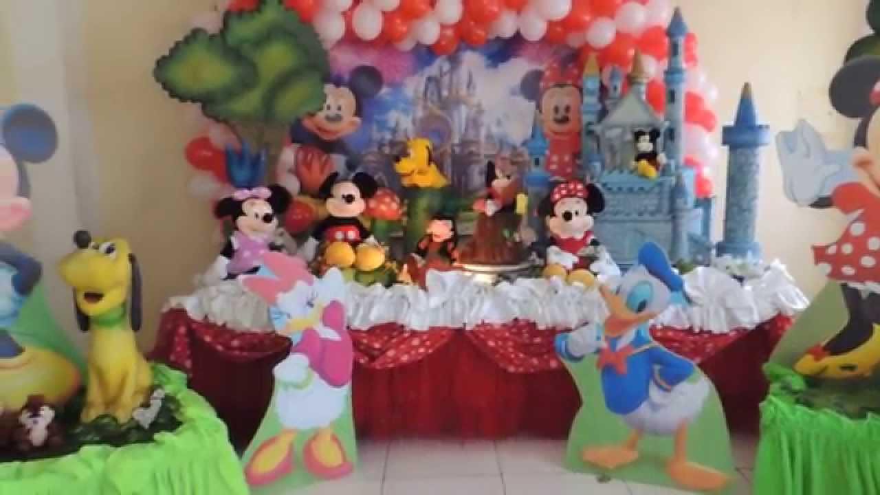 decoracao festa mickey : decoracao festa mickey:Decoração Infantil Disneylândia – Mickey e sua turma * KiARTE