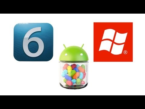 Android Jelly Bean. iOS 6 & Windows Phone 8 Comparison