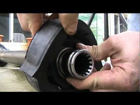 Drive shaft bearing replacement ( volvo 240 ) - YouTube