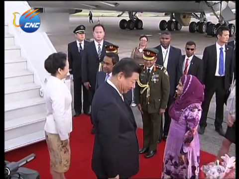 Chinese President Xi Jinping arrives in Maldives for State Visit