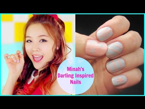 Kpop Nail Art | Girl's Day MINAH 'Darling' Inspired Nails