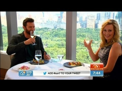 Mel hangs out with Hugh Jackman