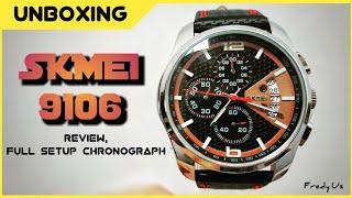 Karna Su Sayang selalu SKMEI 9106 ( REVIEW, FULL SETUP CHRONOGRAPH)