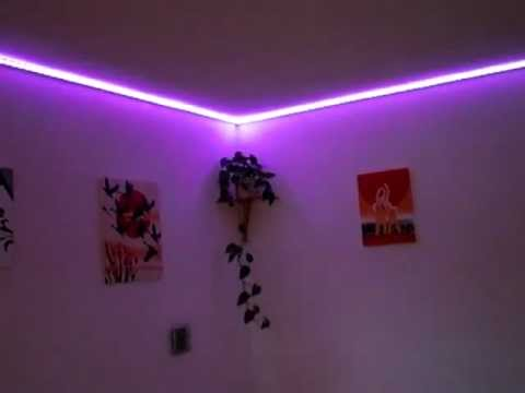 led strip rgb in unserem wohnzimmer youtube. Black Bedroom Furniture Sets. Home Design Ideas