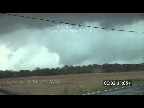4/16/2011 Wilson, NC large tornado & Wall Cloud