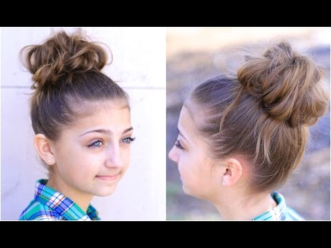 Tags: messy bun hair hairdo hairstyle girl easy rubber band twist school