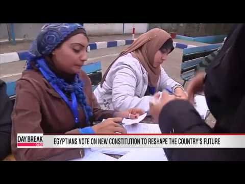 Egyptians vote on new constitution