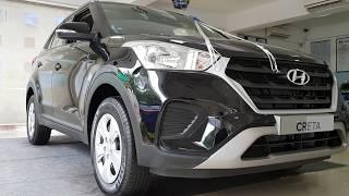 2018 Hyundai Creta Facelift E Plus Diesel | Phantom Black | Exterior and Interior