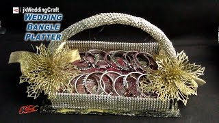 DIY Wedding Gift Basket for bangles  | How to make Trousseau Packing | JK Wedding Craft 073