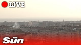 Artillery fire exchanged over Turkey/Syria border | Live replay