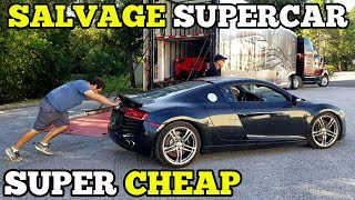 I Bought a TOTALED Audi R8 from a Salvage Auction & I'm going to Rebuild It!
