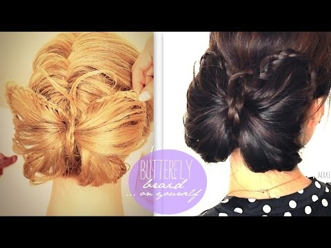 ★ BUTTERFLY BRAID TUTORIAL | CUTE BUN HOLIDAY HAIRSTYLES FOR MEDIUM LONG HAIR | trenzas peinados