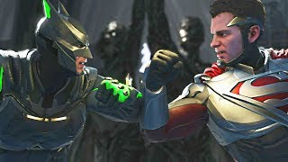 Injustice 2 - Kryptonite Batman vs Superman - All Intro Dialogue, Super Moves And Clash Quotes