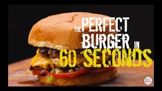 Perfect Hamburger in 60 seconds! - BEST Cheese Burger recipe EVER! - (Smashburger)