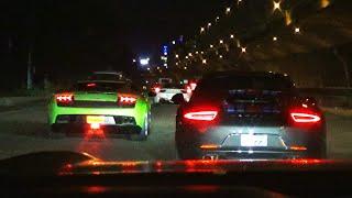 RACING Lamborghini Gallardo vs Mustang GT on INDIA(s) Highway