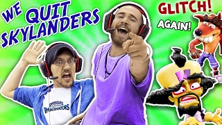 WE QUIT SKYLANDERS w/ DALLAS the PIZZA GUY! IMAGINATORS GLITCHES AGAIN!! Crash Bandicoot Level