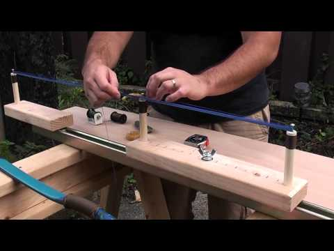 how to make a pvc bow flattening jig