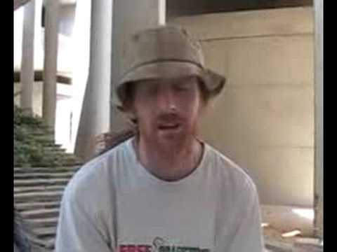 Irishman supporter of Free Gaza Movement boats