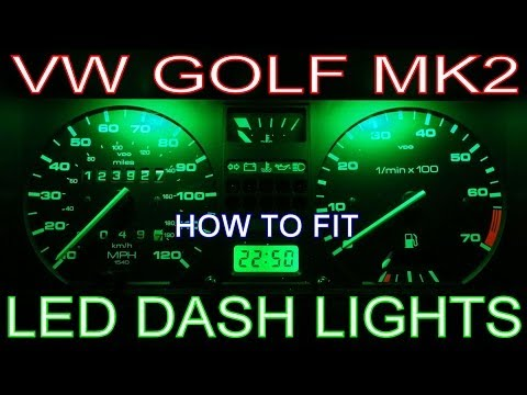 How to Install LED Dash Lights. Fit Speedo/Instrument Panel LEDs Replace Dashboard Bulbs VW Golf Mk2