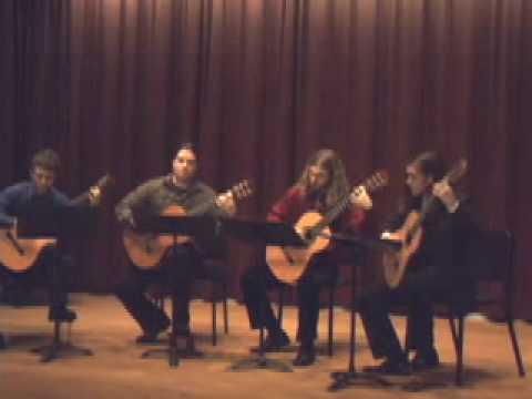 Leo Brouwer, Toccata - EMU Guitar Quartet