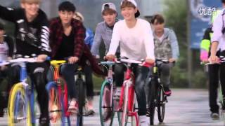 [HD] 140910 EXO AIMA Bicycle CF Photoshoot BTS Making Film