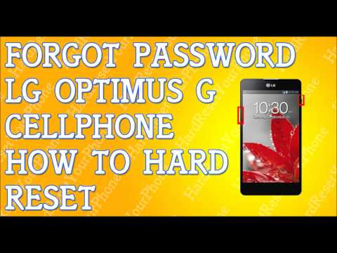 Forgot Password LG Optimus G How To Hard Reset
