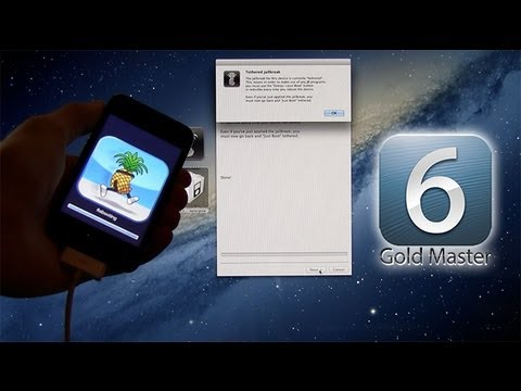 Jailbreak iOS 6 GM. 6.0 iPhone 4.3Gs.iPod Touch 4