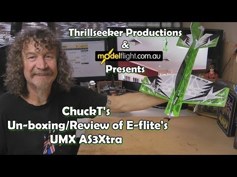 E flite UMX AS3Xtra Unboxing - Review With ChuckT