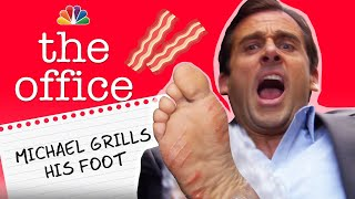 Michael Grills His Foot - The Office