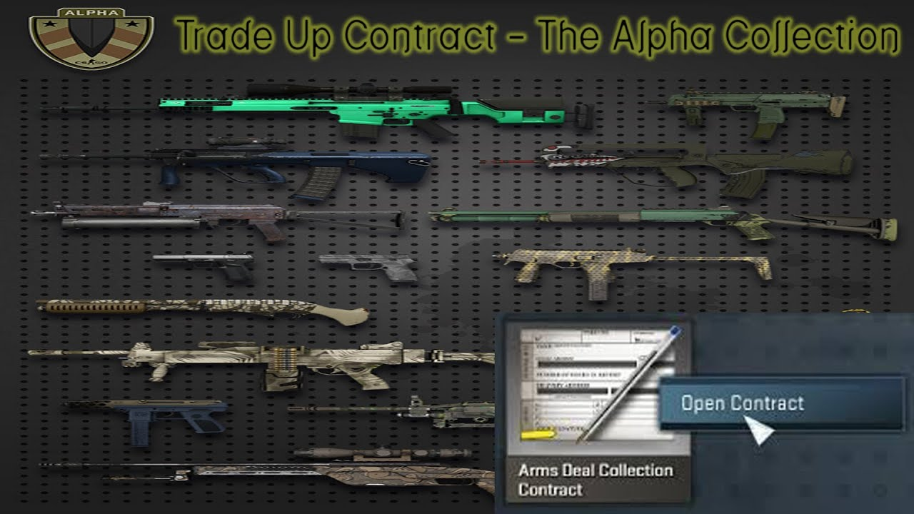 Cs Go Trade Up Contract The Alpha Collection Youtube