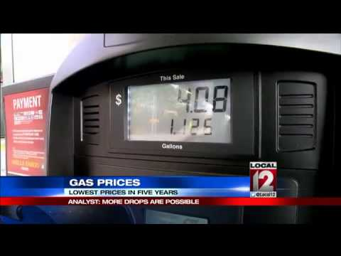 Gas prices are lowest in five years