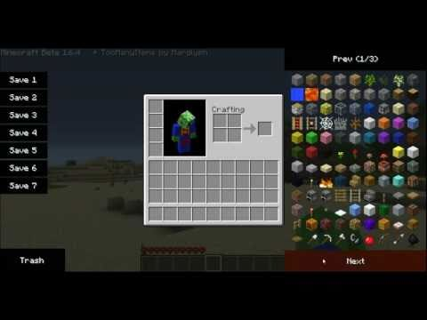 Minecraft: Beta 1.8.1 TooManyItems Mod Review And Tutorial + Download