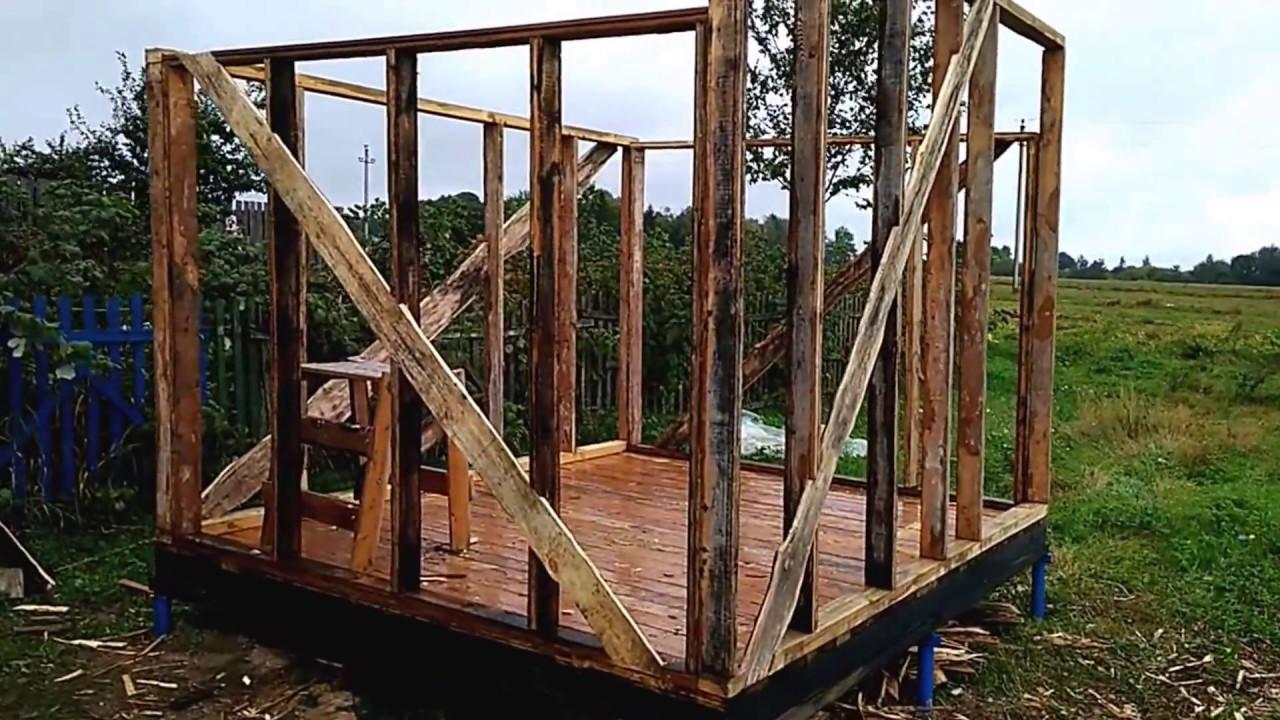 Строительство деревянной бытовки своими руками 66