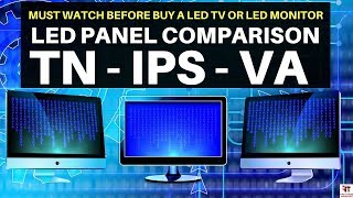 LED टीवी लेने से पहले जाने LED Panel Comparison | TN vs VA vs IPS | LED TV BUYING GUIDE | PLS AHVA