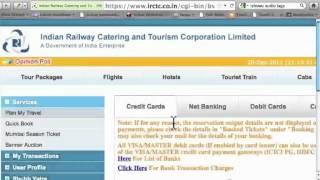 Online Train Ticket Booking via IRCTC