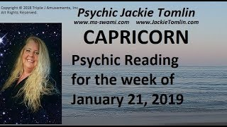 CAPRICORN Psychic Reading for the week of January 21, 2019