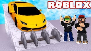 CRUSHING CARS WITH MY DAD in ROBLOX CAR CRUSHER 2