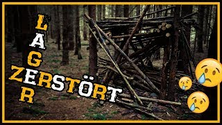 Katastrophe: Waldcamp wurde zerstört :( - Outdoor Survival Bushcraft Camp Shelter