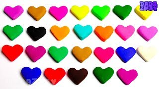 Учим Английский Алфавит|Учим цвета с Play Doh сердечками|Песенка Про Алфавит ABCD для детей|ABC