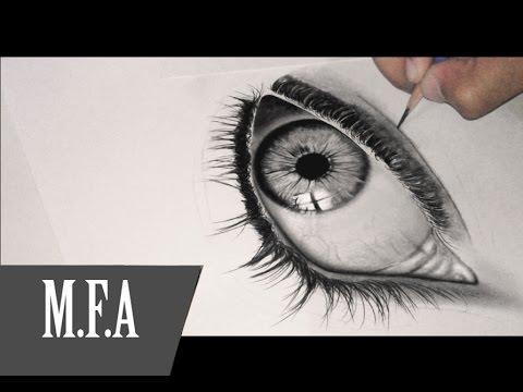 Como fazer um olho humano m f a desenhos realistas youtube for Como criar peces para consumo humano