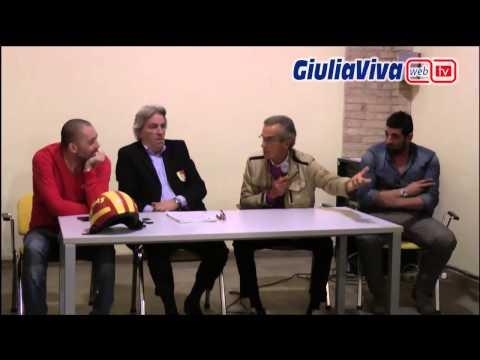 Giulianova Calcio incontro fra i tifosi ed il presidente Antonio Esposito, insieme a Francesco Giorg