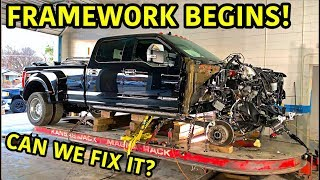 Rebuilding A Wrecked 2019 Ford F-450 Platinum Part 7