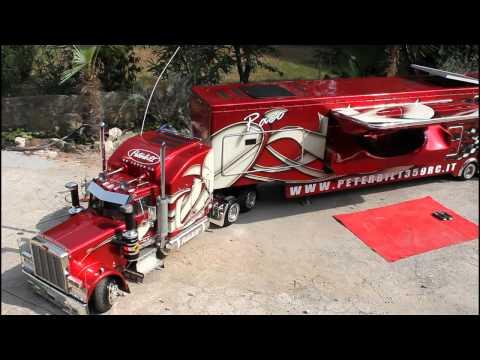 TruckModel Peterbilt 359 RC 1:4 Test Movement 2