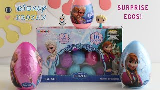 Disney FROZEN Surprise Eggs with Elsa, Olaf, Frozen Stickers, Lemonheads, Olaf Backpack Clip