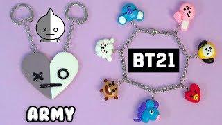 🎵🔔DIY: BFF Keychain of Van (Army) and BT21 Bracelet (BTS) K-POP 🔔🎵